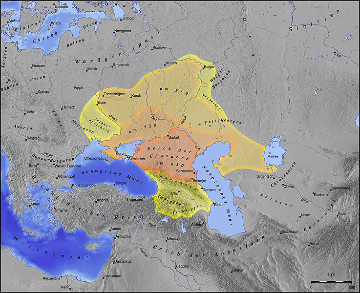 Khazar kingdom in the Middle Ages.