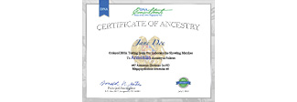 Ancestry Certificate
