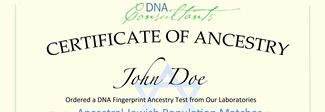 Jewish DNA Ancestry Certificate
