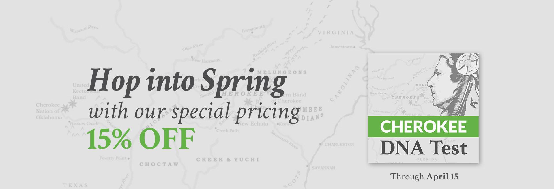 Spring promo Cherokee
