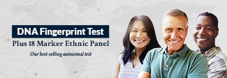 DNA Fingerprint Test Plus 18 Marker Ethnic Panel