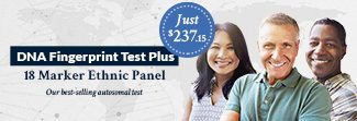DNA Fingerprint Test Plus 18 Marker Ethnic Panel