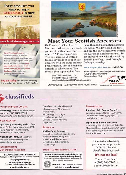 Family Tree Magazine 2007-2008
