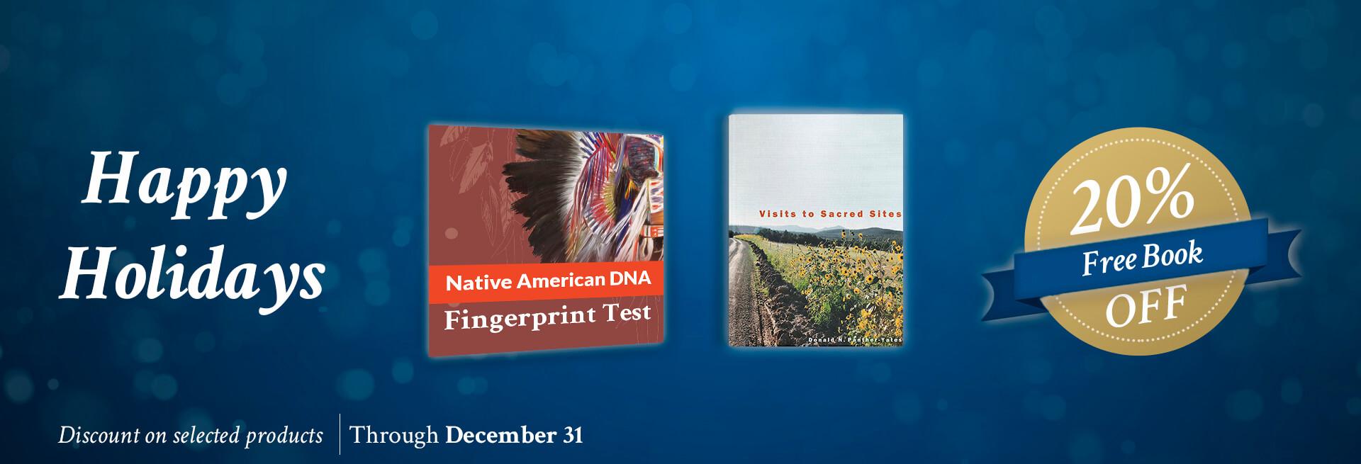 Native American DNA Fingerprint Happy Holiday promo 2019