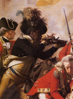 Black Soldier Fighting with British