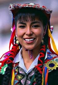 Peruvian woman in native attire
