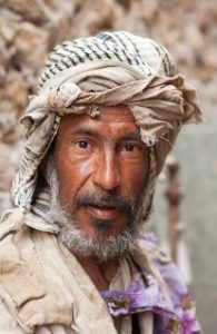 Man in traditional Siwa dress