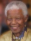 Nelson Mandela, president of South Africa 1994-1999