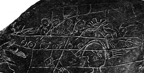 Boat or ship from the Thruston Tablet