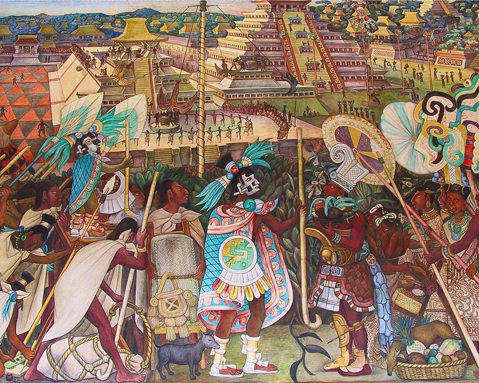 Totonac Civilization, mural in Mexico City finished in 1950 by Diego Rivera.